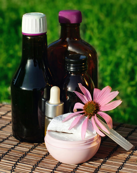 Echinacea could help reduce wrinkles and dry skin.